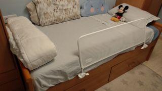 Cama cajonera con somier y colchón de látex de 90