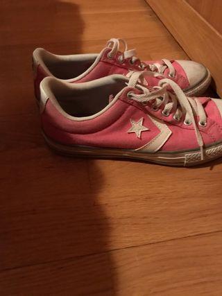 Zapatos converse rosa