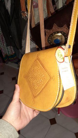 bolsos de piel auténtico de Marruecos artesanal