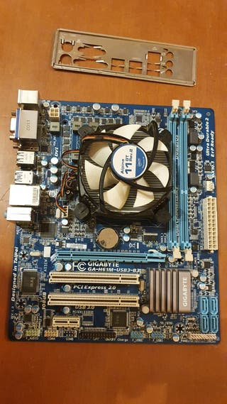 pack placa base y procesador i3 2100