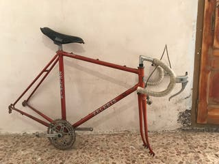 Bicicleta carretera vintage fixie