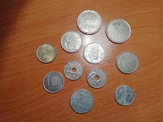 lote de monedas antiguas españolas