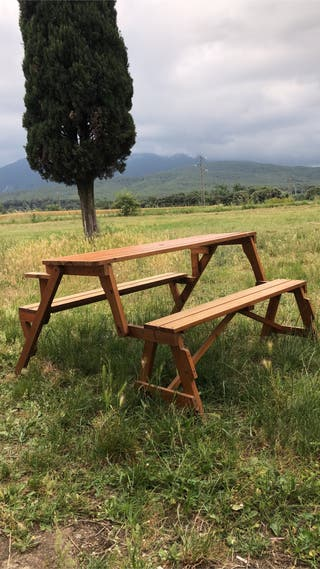 Banco mesa de madera