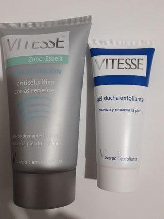 Vitesse anticelulitico 150 ml y gel ducha exfolian