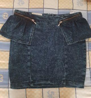 Falda tejana Pull & Bear talla S