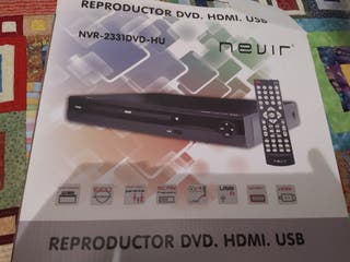 Reproductor DVD. HDMI. USB Nevir