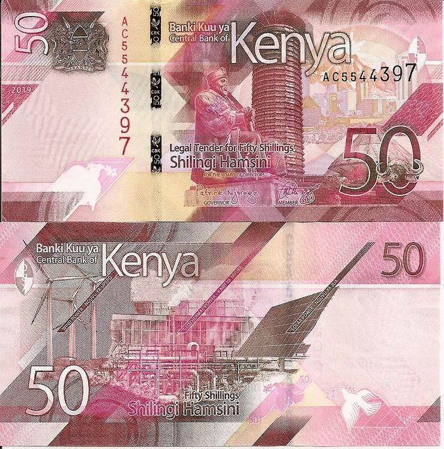 KENIA BILLETE 50 SCHILLINGS 2019