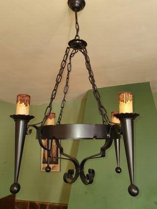 2 Lámparas de techo Rusticas de Foja
