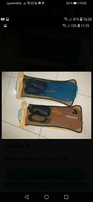 sapatillas de playa