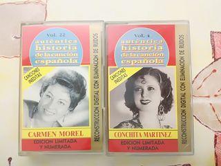cassettes Carmen Morel y Conchita Martínez