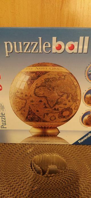 puzzle 3D globo terráqueo vintage