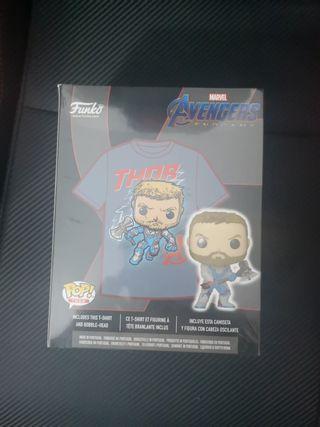 Pack Funko Thor glow gamestop + Camiseta Talla L