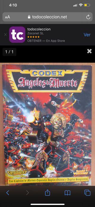 Codex Warhammer 40000 Ángeles de muerte