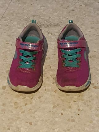 zapatillas skechers rosa 34