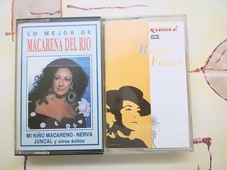 cassettes Macarena del Río y Rosita Ferrer