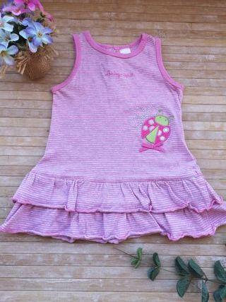 vestido bebe 6 / 9 meses algodón verano tirantes