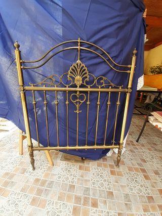 cabecero cama de bronce 90cm