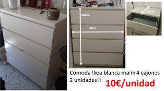 Cómoda Ikea blanca 4 cajones
