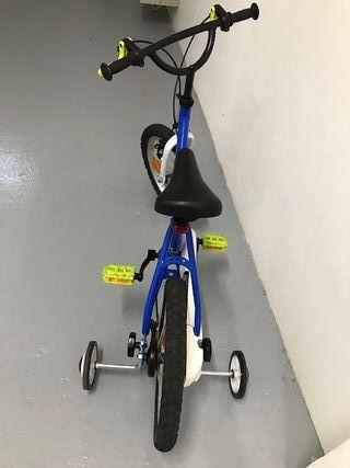 Bicicleta infantil 14¨( pulgadas) con ruedines