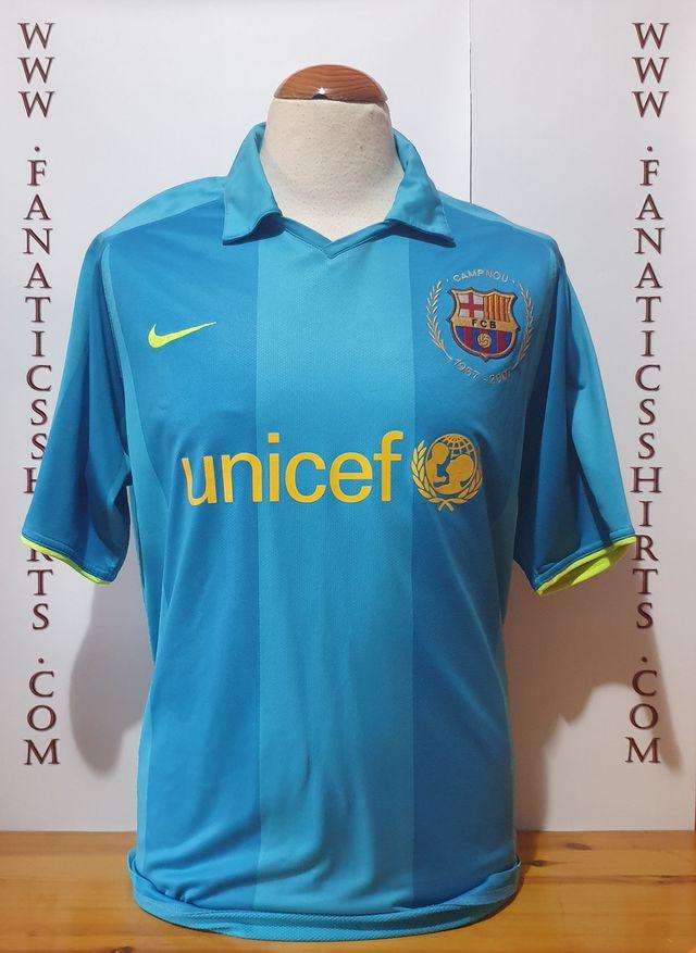 Refrigerar Gran Barrera de Coral césped  Camiseta Futbol FC Barcelona 2007-2008 Away Nike de segunda mano por 40 €  en Partida Collado en WALLAPOP