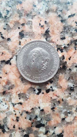 Moneda 5 pesetas 1949 Niquel*19*50