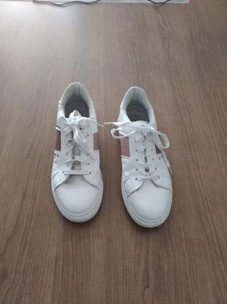 Zapatillas con brillantina