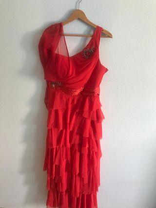 Vendo vestido de fiesta rojo un solo uso