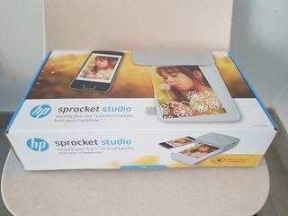 HP Sprocket Studio + 80 papeles foto + 2 cartuchos