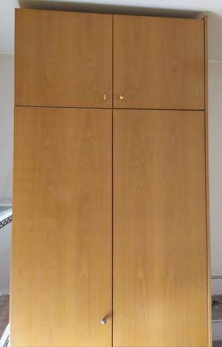 Armario alto ropero madera