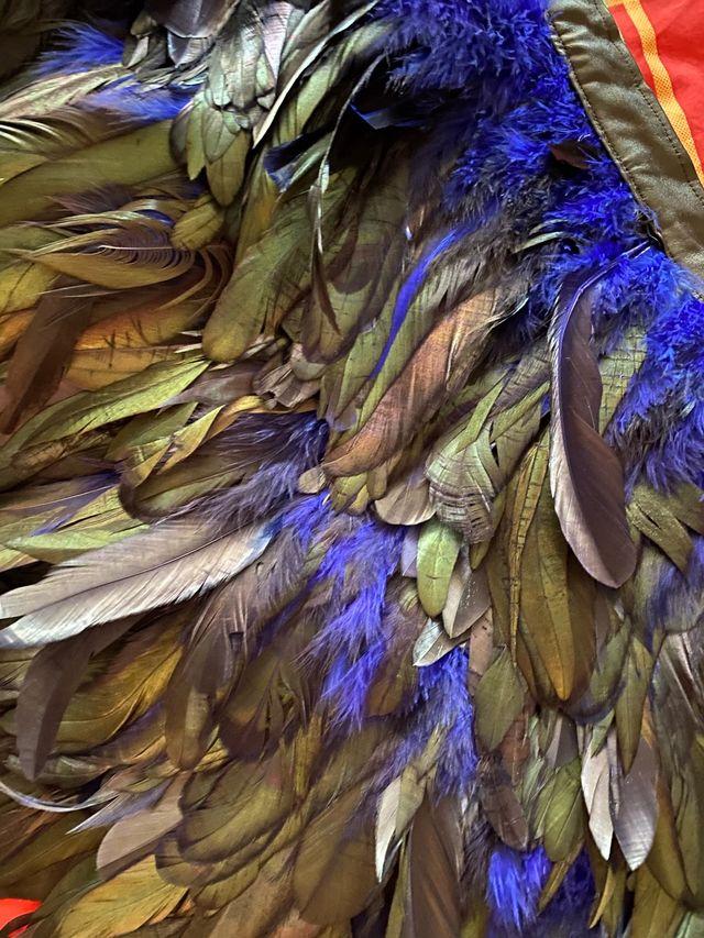 Minifalda plumas auténticas