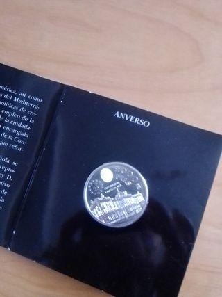 moneda de 2000 pesetas. plata.