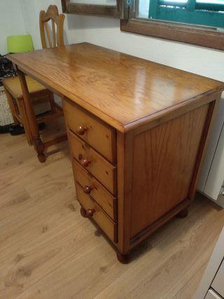 Mesa de escritorio de pino 103x75×53'5