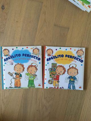 Lote 2 libros infantiles Angelito perfecto