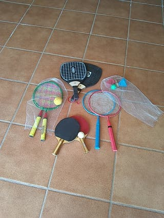 raquetas de Ping Pong y bádminton
