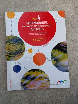 3 libros matemáticas 4 eso aplicadas