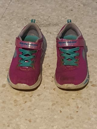 zapatillas skechers rosa de luces 34