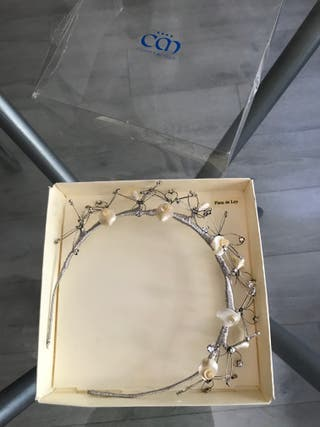 Tiara de novia de Plata de Ley, artesanal