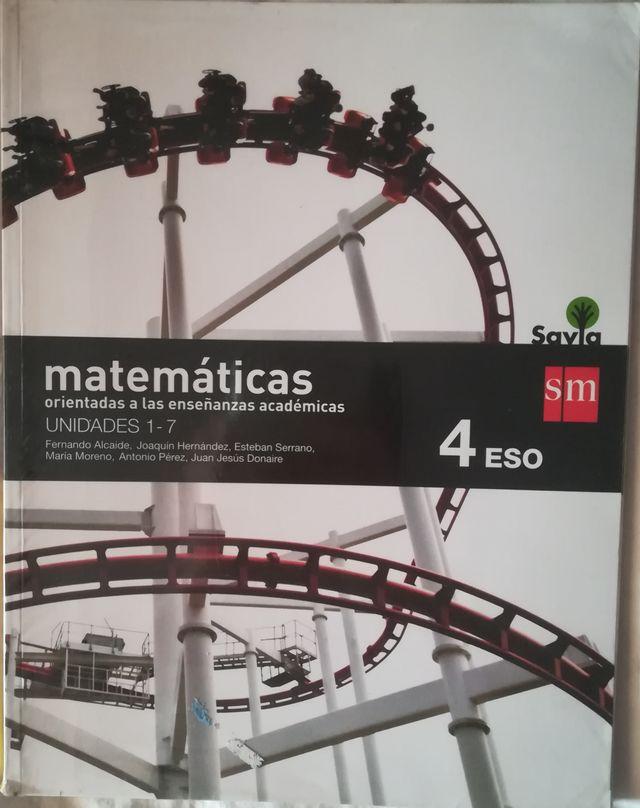 Libro matemáticas, SM, 4°ESO