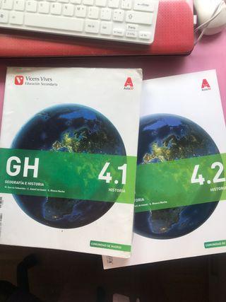 Libro geografía e historia 4 de la ESO