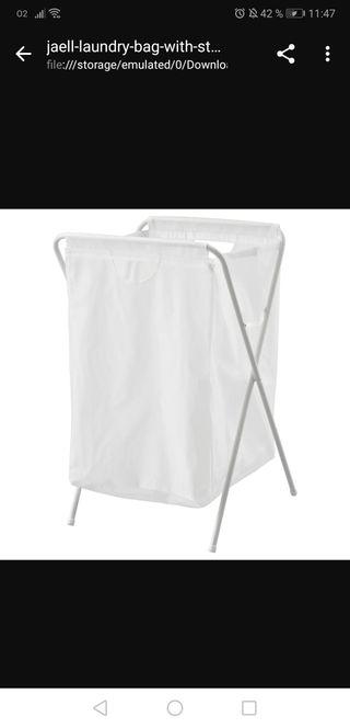 2 bolsas de ropa c/soporte, blanco, 70 l