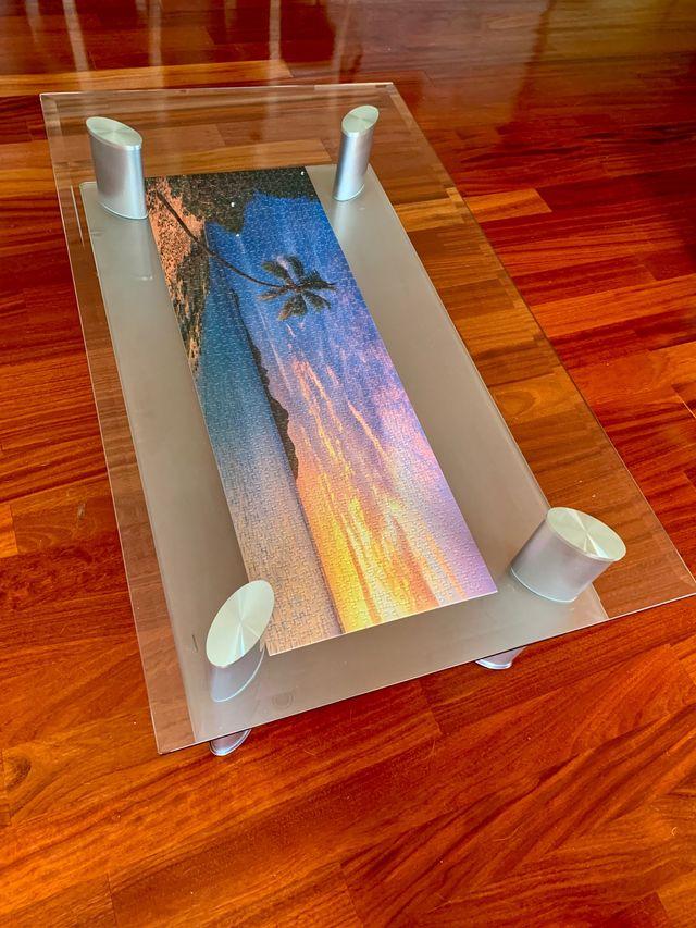 Mesa de cristal de centro