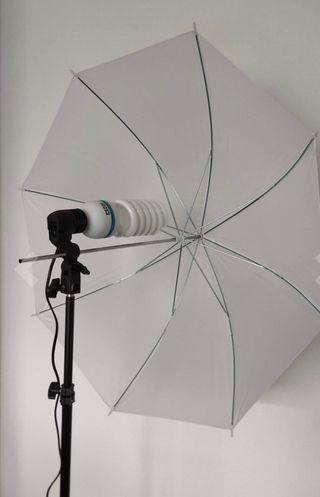 Iluminación, fotografía, luz led paraguas