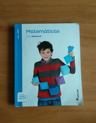 libro matemáticas 1º ESO Santillana