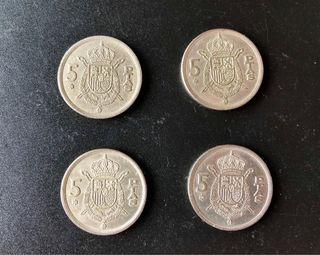 Lote Monedas 5 pesetas 1975