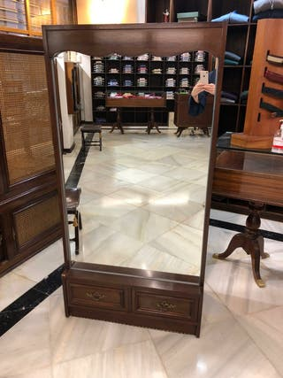Mueble expositor zapatero espejo