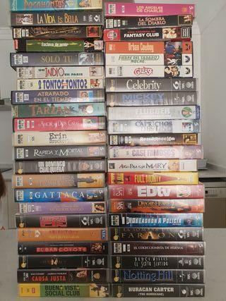Vendo 44 cintas VHS peliculas