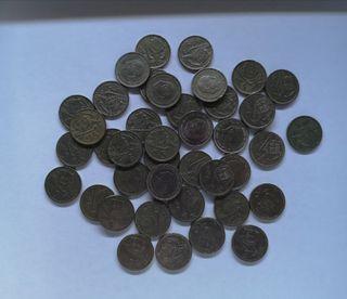 Monedas de 5 pesetas de 1957 (41 monedas)