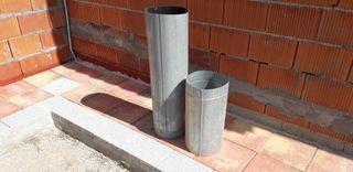2 tubos galvanizados chimenea/barbacoa