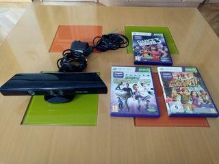 Kinect xbox 360+ 3 juegos y mas.
