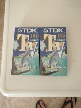 Cintas VHS TDK 3 horas